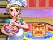 14252_Pregnant_Elsa_Baking_Pancakes