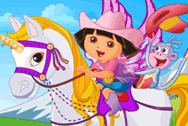 245_Baby_Dora_On_The_Unicorn_King